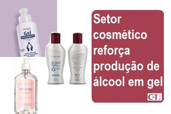 Setor cosmético reforça produção de álcool em gel