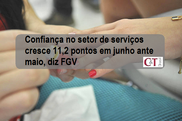 Confiança no setor de serviços cresce 11,2 pontos em junho ante maio, diz FGV