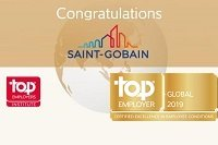 Saint-Gobain é certificada como empresa Top Employer