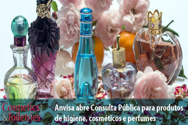 Anvisa abre Consulta Pública para produtos de higiene, cosméticos e perfumes