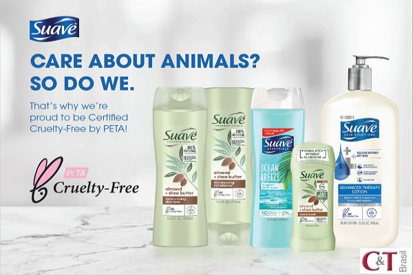 Marca Suave, da Unilever, ganha certificação PETA
