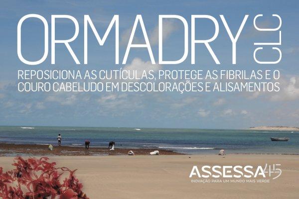 ORMADRY CLC reposiciona as cutículas, protege as fibrilas e o couro cabeludo em descoloracões e alisamentos
