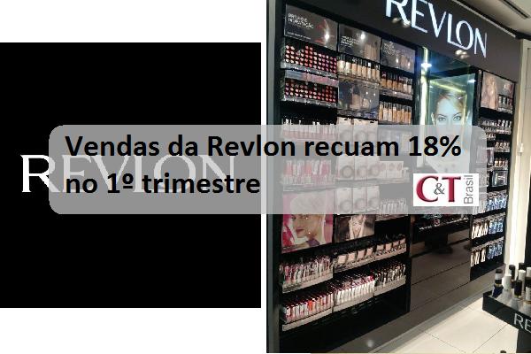 Vendas da Revlon recuam 18% no 1º trimestre
