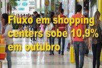 Fluxo em shopping centers sobe 10,9% em outubro