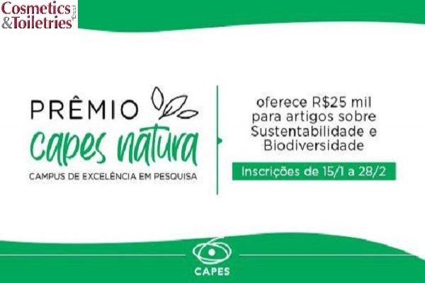 Prêmio CAPES/Natura tem inscrições abertas