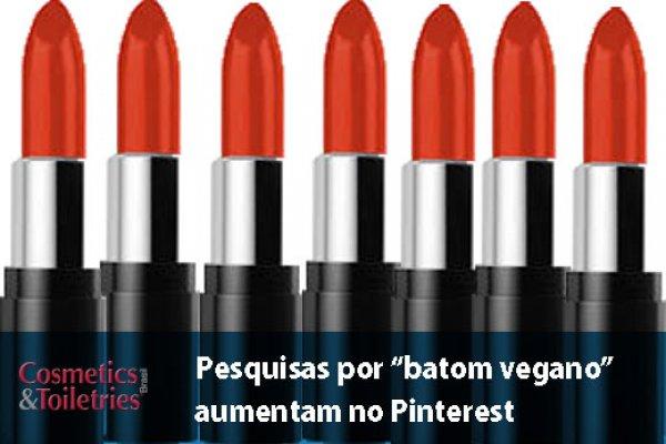 """Pesquisas por """"batom vegano"""" aumentam no Pinterest"""