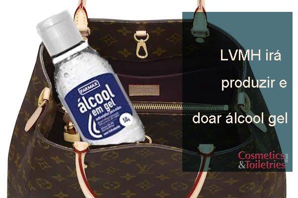 LVMH irá produzir e doar álcool gel