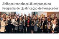 Abihpec reconhece 38 empresas no Programa de Qualificação de Fornecedor