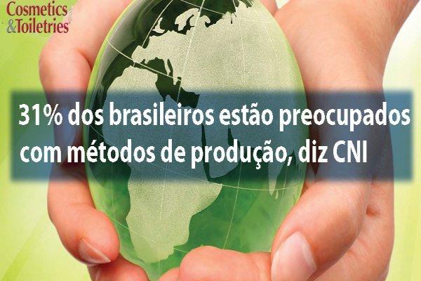 31% dos brasileiros estão preocupados com métodos de produção, diz CNI