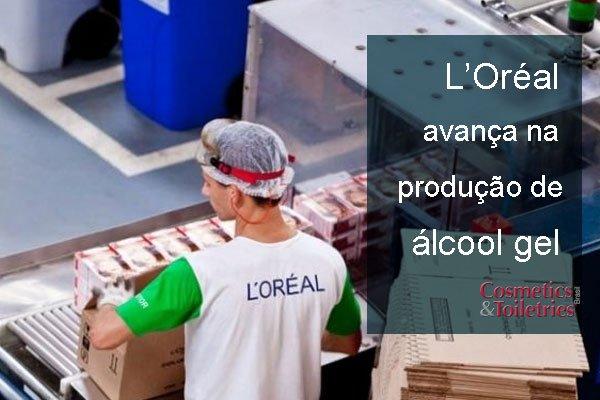L'Oréal avança na produção de álcool gel