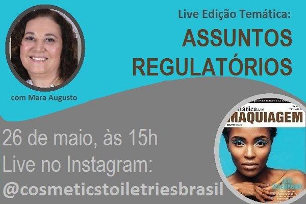 Live Edição Temática abordará assuntos regulatórios em maquiagem