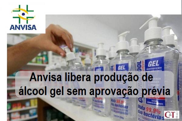 Anvisa libera produção de álcool gel sem aprovação prévia