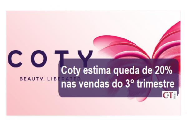 Coty estima queda de 20% nas vendas do terceiro trimestre