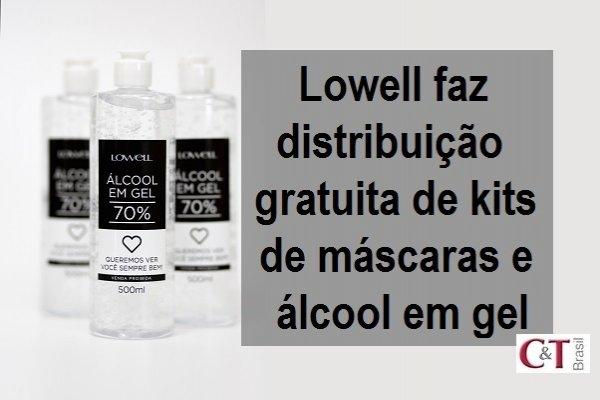Lowell faz distribuição gratuita de kits de máscaras e álcool em gel