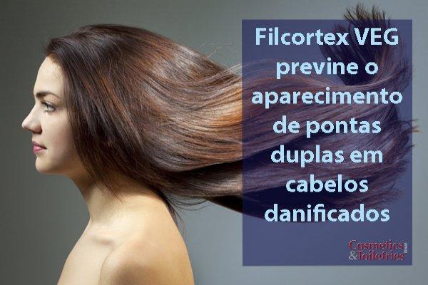 Filcortex VEG previne o aparecimento de pontas duplas em cabelos danificados