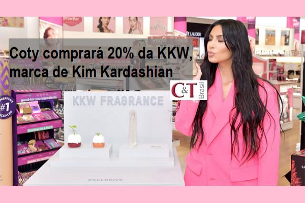 Coty comprará 20% da KKW, marca de Kim Kardashian