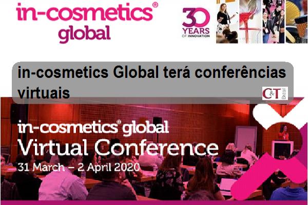 in-cosmetics Global terá conferências virtuais