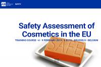 Curso em Bruxelas aborda avaliação de segurança em cosméticos