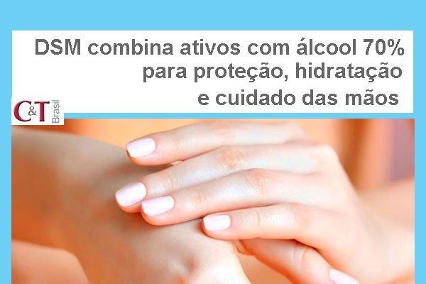 DSM combina ativos com álcool 70% para proteção, hidratação e cuidado das mãos