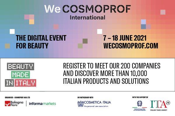 Conheça a Cosmética Italiana na Wecosmoprof International