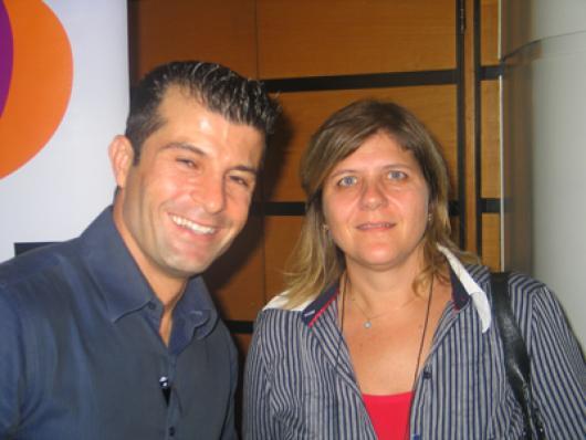 Alexandre P. Coelho (Omni Consultoria) e Sandra Cano (Amend)