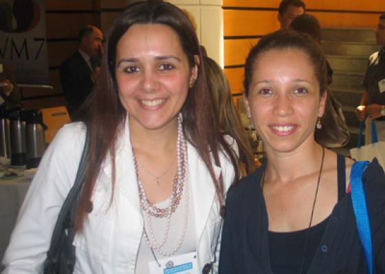 Ariane Almeida (Lumi Cosméticos) e Cynthia Q. da Silva (Belmay do Brasil)