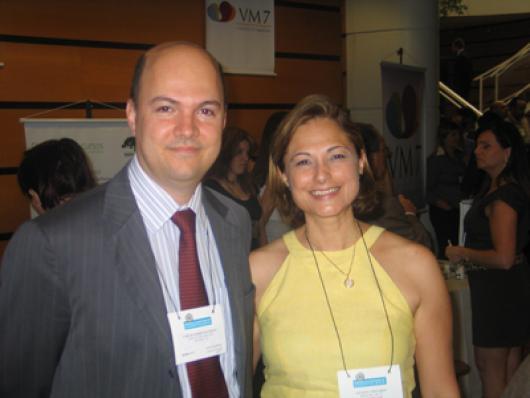 Carlos Alberto Pacheco (Stahl) e Luciana Centurion (Dinaco)