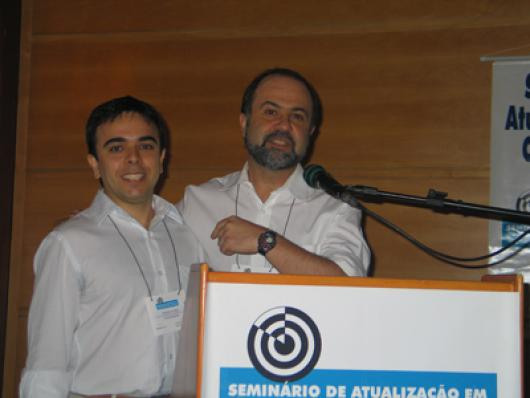 Philipe Guy e Wallace Magalhães, da Pro G9, com a palestra