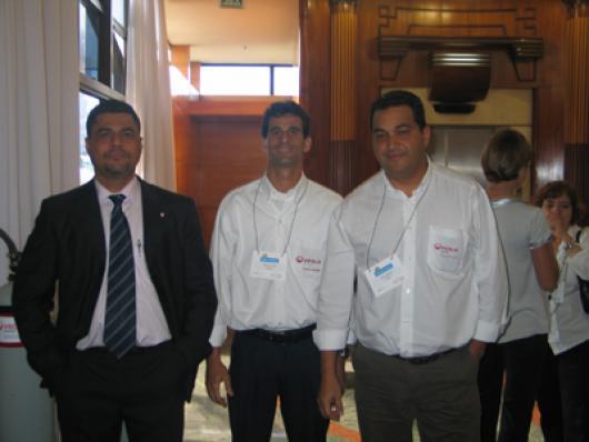 Equipe da Veolia - Da esq. para dir - Nelson Santos, Marcus Lázaro e Edson Ferreira