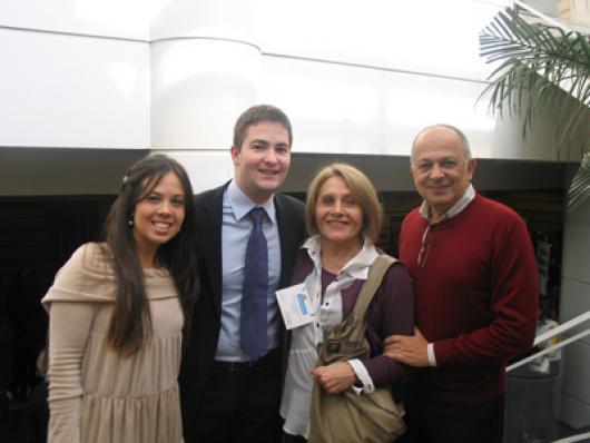 (Da esq) Vanessa Salazar e Cassiano Braccialli (Beraca), Edésia Gaião e Emiro Khury
